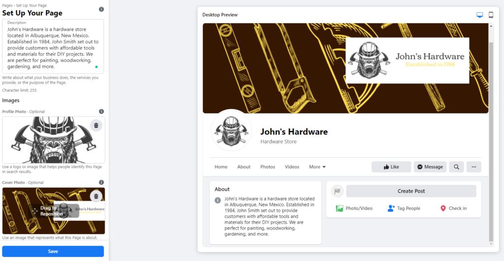 John's Hardware Facebook page images