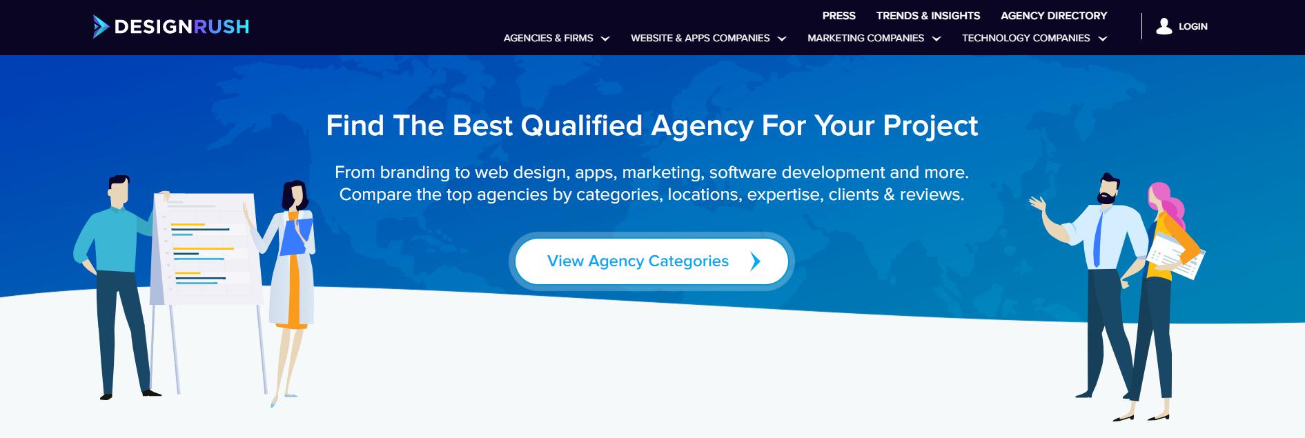 DesignRush Website screenshot